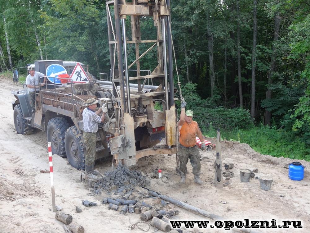 Инженерно-геологические изыскания на оползневых склонах
