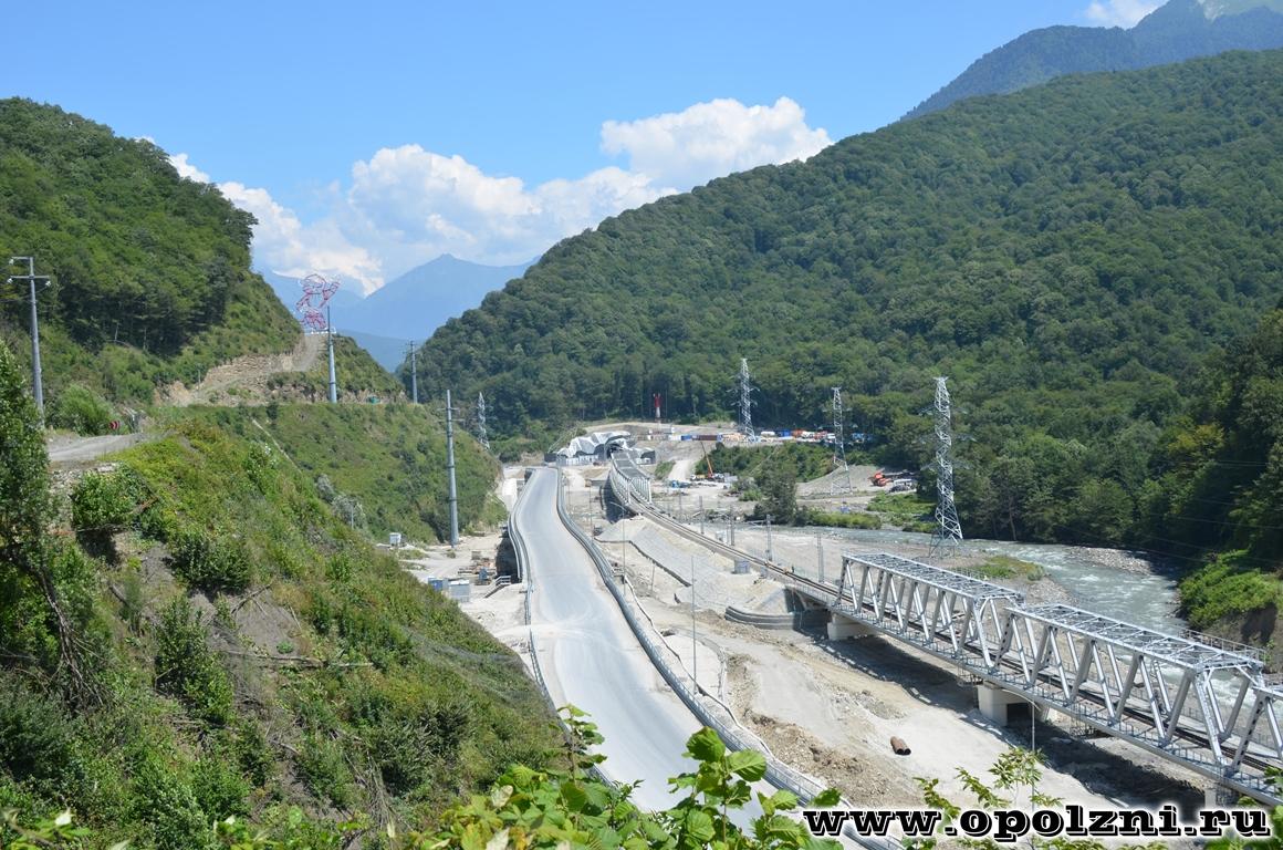 Строительство железной дороги в долине р.Мзымта