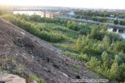 Оползневой склон в Москве (Москворечье). Оползни в Москве.