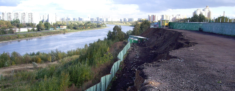 оползень в Москве