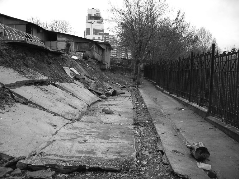 1Оползень в москве на карамышевской набережной