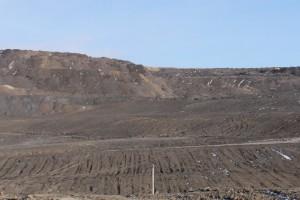 Оползень в Кузбассе на угольном разрезе